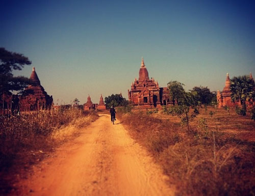 Cycling in Bagan, Burma (Myanmar)