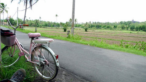 Cycling around Borobudur, Indonesia