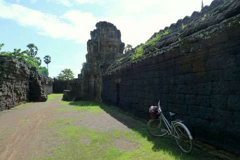 Cycling in Kampong Cham, Cambodia