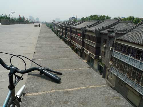 Cycling on Old Wall of Xian, China