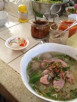 Breakfast in morning market, Phnom Penh, Cambodia