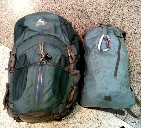 Blue Gregory Jade 60 and Macpac